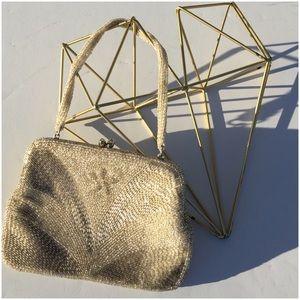 Handbags - Intricately Silver Beaded Evening Bag